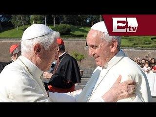 Papas Francisco y Benedicto XVI