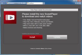 â € œPlease instalar la nueva SweetPlayer