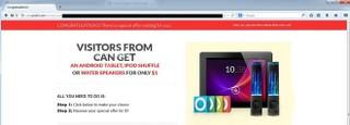 Web.Prize3.com pop-up