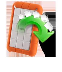restore lacie minimus 3TB external hard disk drive data upon Mac