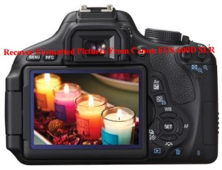 Recover Formatted Pictures From Canon EOS 600D SLR