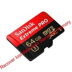 Recover lost data from Samsung Pro 64 GB MicroSD card