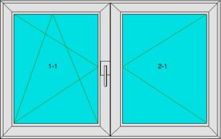 Fenster zwei Flügel