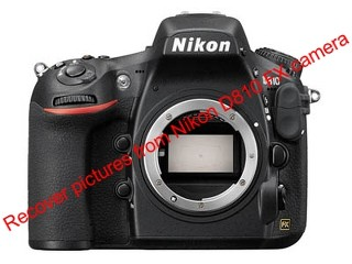 Recover deleted pictures from Nikon D810 FX camera