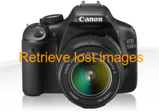 Retrieve lost images from Canon EOS 550D