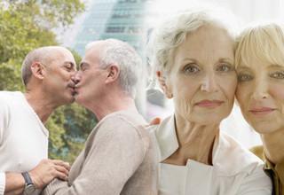 Para os homossexuais seniores, os desafios de envelhecer encontram-se misturados com muitos outros assuntos, tornando-os ainda mais marginalizados, mais isolados e mais vulneráveis do que os adultos seniores heterossexuais.