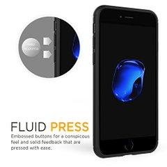 COVER CUSTODIA IPHONE 7 nera TPU ultra slim silicone nera morbida