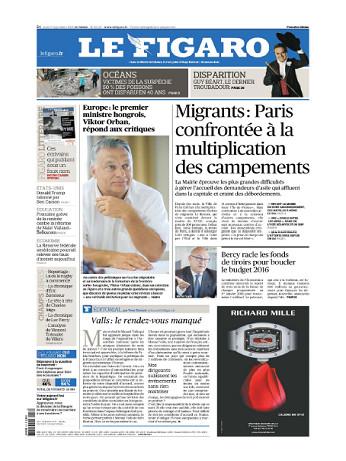 Le Figaro Du Jeudi 17 Septembre 2015
