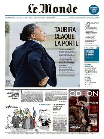 Le Monde + 2 Suppléments Du Jeudi 28 Janvier 2016