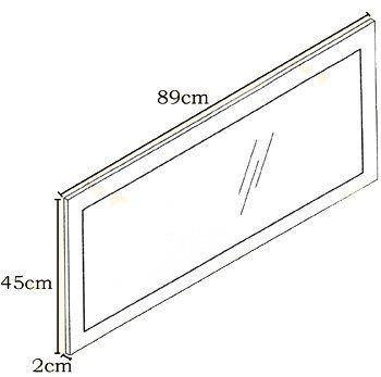 Quasimodo specchio 89x45 cm disponibile in 13 colori - Specchio quasimodo analisi ...