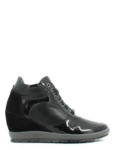 SCARPE SNEAKERS DONNA NERO GIARDINI ORIGINALE A513372D PELLE SHOES A/I 2015/16