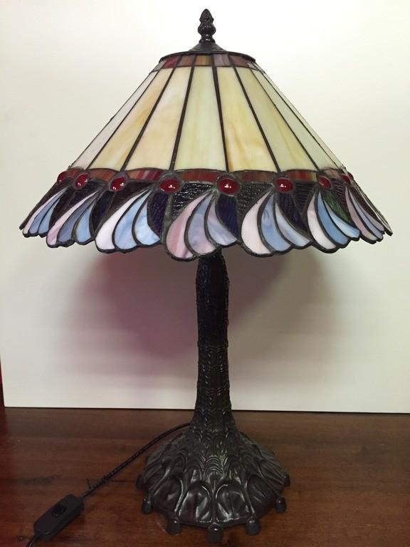 Lampada lampade vetro tiffany originale tronco albero for Tronco albero arredamento