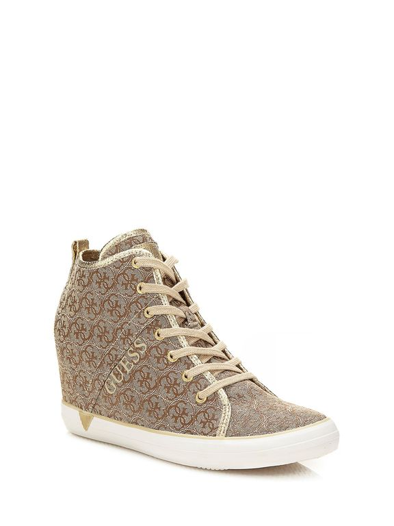 SCARPE SNEAKERS DONNA GUESS ORIGINALE JILLY FLJIL3FAL12 SHOES A/I 2016/17 NEW