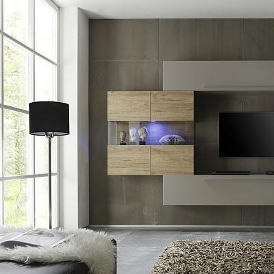 vetrina a due ante appesa bali, mobile di design per soggiorno ... - Vetrine Per Soggiorno Moderno