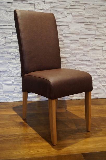 braun echtleder stuhl echt leder st hle rindsleder. Black Bedroom Furniture Sets. Home Design Ideas
