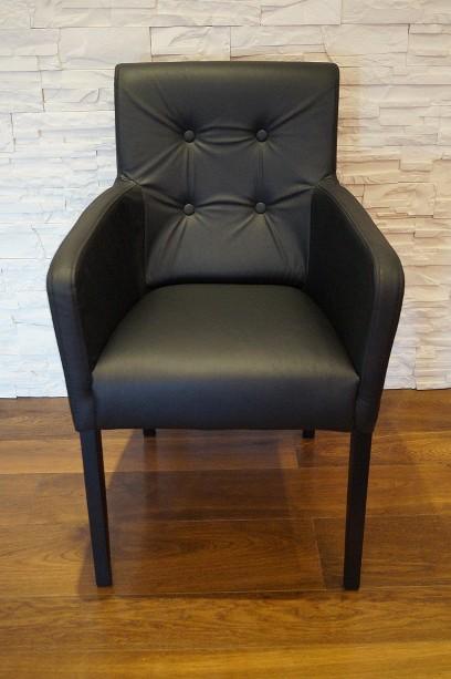 schwarz echtleder stuhl echt leder st hle esszimmer sessel schnelle lieferung ebay. Black Bedroom Furniture Sets. Home Design Ideas