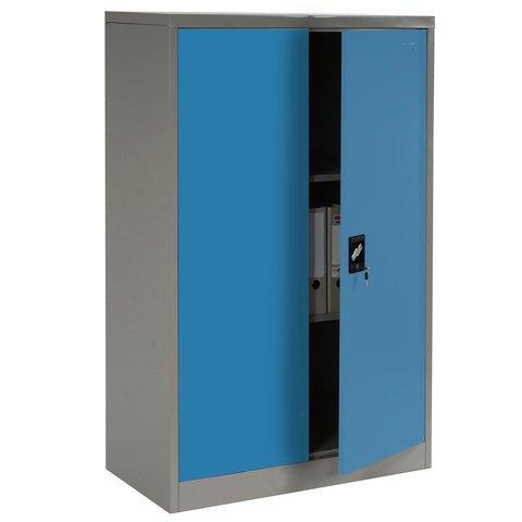 Aktenschrank blau b ro stahlschrank verschlie bar for Aktenschrank tiefe 35 cm
