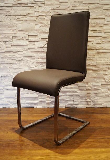 echtleder stuhl echt leder st hle esszimmer lederst hle rindsleder edelstahl ebay. Black Bedroom Furniture Sets. Home Design Ideas
