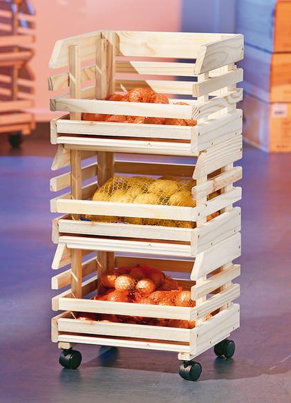 Carrello moderno Apple, mobile per frutta pratico e funzionale ...