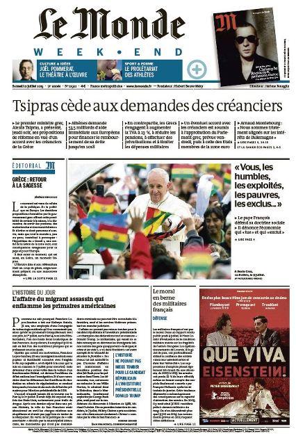 Le Monde Weekend et 4 Suppléments du Samedi 11 Juillet 2015