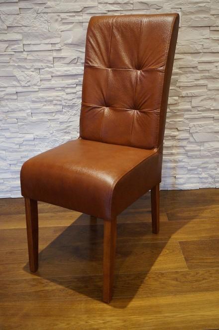 braun echtleder esszimmer st hle schnelle lieferung echt leder stuhl lederst hle ebay. Black Bedroom Furniture Sets. Home Design Ideas