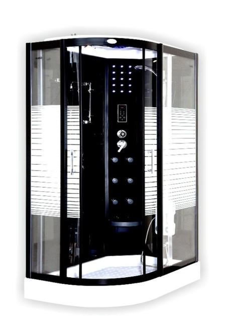 Box doccia multifunzionale anita pioggia tropicale e led - Box doccia senza silicone ...