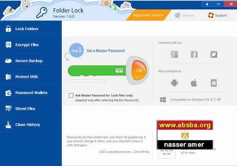 البرنامج والمجلدات Folder Lock 7.6.5 Multilingual 2018,2017 NjwrYy.jpg