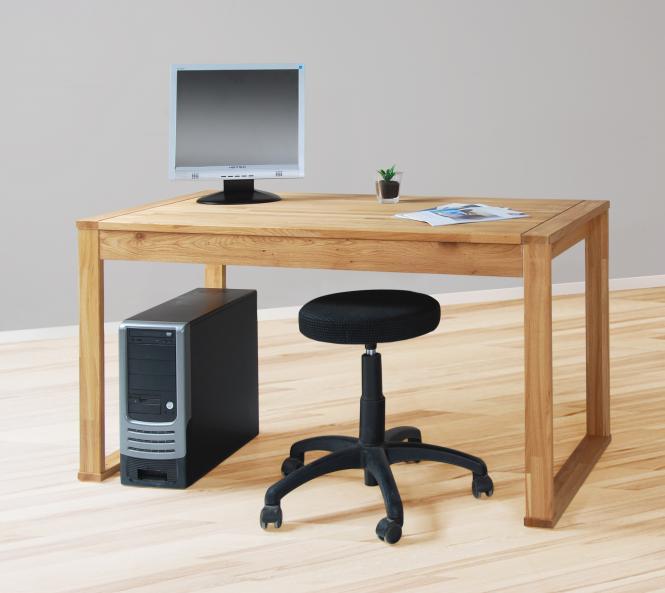 wildeiche massiv schreibtisch b rotisch tisch massivholz massiver 140cm 140x70 ebay. Black Bedroom Furniture Sets. Home Design Ideas
