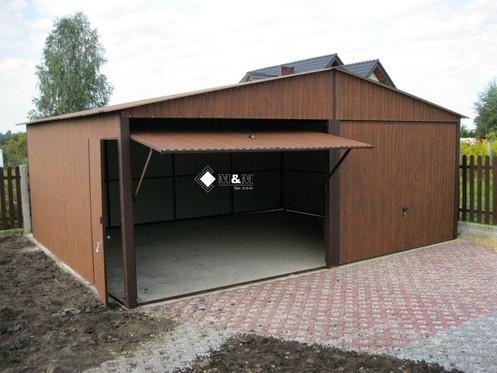 neu mehrzweck garage blechgarage 5mx6 m mit satteldach und schwingtoren ebay. Black Bedroom Furniture Sets. Home Design Ideas