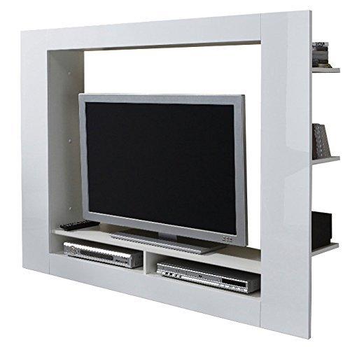 Parete porta tv Quadro, mobile soggiorno moderno bianco di design