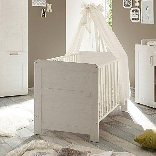 Lettino bianco moderno alexis per bambini con sponde, letto con ...