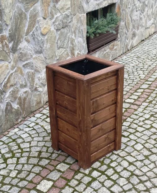 blumenkasten blumentopf pflanzkasten pflanzk bel aus holz quadratisch hoch. Black Bedroom Furniture Sets. Home Design Ideas