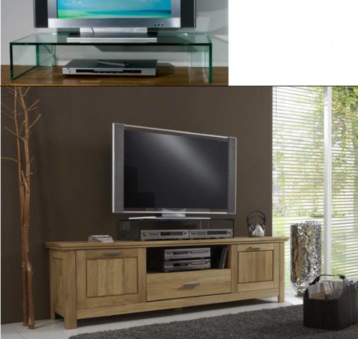 tv glasaufsatz klarglas glas tisch tv aufsatz monitor erh hung glasb hne podest. Black Bedroom Furniture Sets. Home Design Ideas
