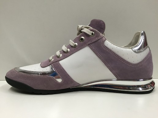 SCARPE SNEAKERS DONNA SWEET YEARS ORIGINALE 37 LILLA ARGENTO PELLE LEATHER SHOES