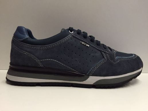 SCARPE CASUAL UOMO GEOX ORIGINALI KOBI U44Z8B BLU NAVY PELLE NABUK SHOES LEATHER