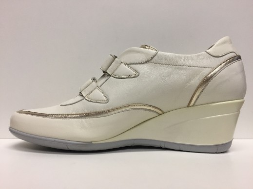 SCARPE DONNA LION ORIGINALI LIONELLE 8108 PANNA PELLE VITELLO SHOES LEATHER NEW