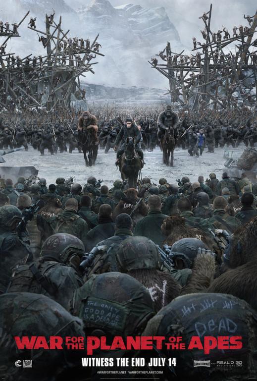 Ο πλανήτης των πιθήκων: Η σύγκρουση (War for the Planet of the Apes) Poster