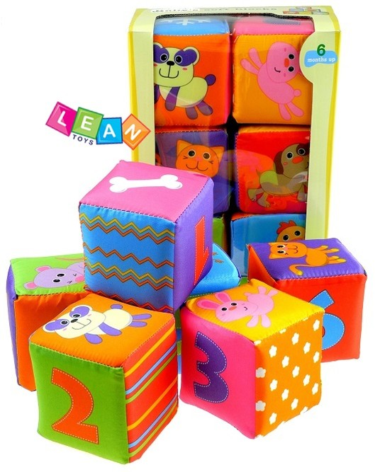 Building Toys For Babies : Baby toddler infant soft building blocks patterns animals