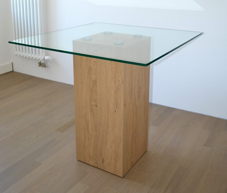 Esstisch 80x80 tisch esszimmer glas s ulentisch for Designer esstisch 80x80