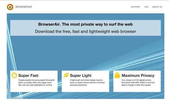BrowserAirを取り除きます