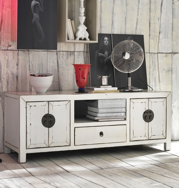 Credenza moderna design in betulla laccato bianco zeno mobile soggiorno porta tv - Mobile porta tv legno design ...