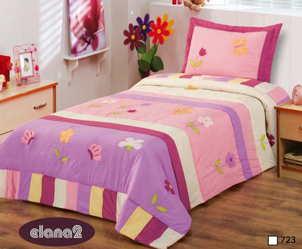 tagesdecke f r m dchen 170 x 210 cm rosa lila bett berwurf neu ebay. Black Bedroom Furniture Sets. Home Design Ideas