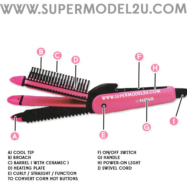 Nova 3 in 1 Multifunction Perfect Curl