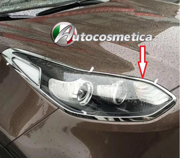 CORNICI PROFILI FARI FANALI POSTERIORI IN abs Ford Kuga new modell 2012 in poi