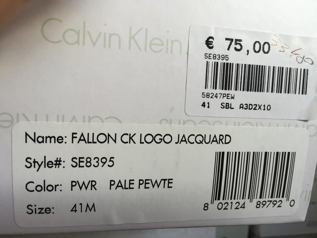 SCARPE SNEAKERS UOMO CALVIN KLEIN JEANS ORIGINALE FALLON SE8395 P/E 2016 NEW