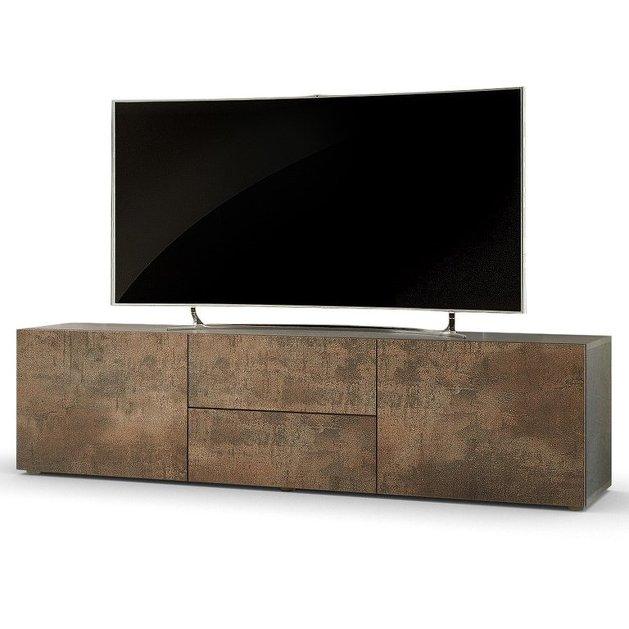 porta tv moderno modello pepsy colore acciaio antico mobile ... - Mobile Soggiorno Antico