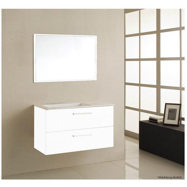 Bagno sospeso dylan 3 colori mobile design moderno con lavabo e specchio - Colori a specchio ...
