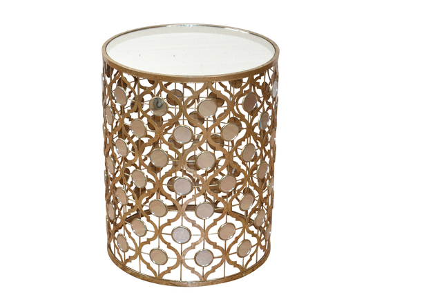 glastisch goldfarben tisch beistelltisch couchtisch glasplatte antik spiegel ebay. Black Bedroom Furniture Sets. Home Design Ideas