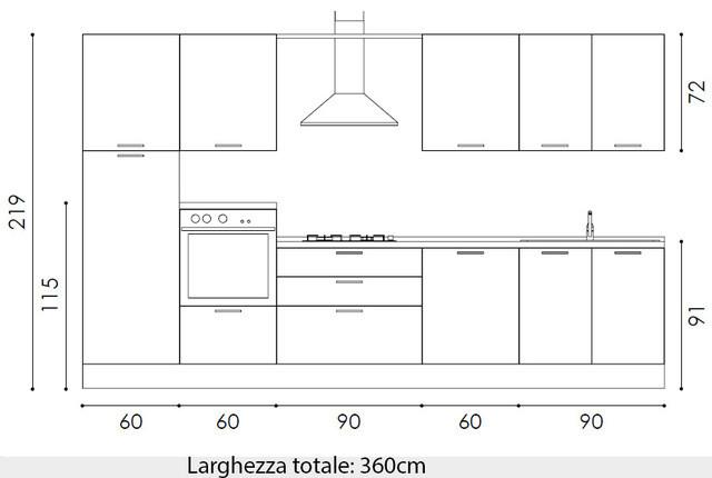 cucina modello elinor, 18 composizioni di cucine moderne, colori a ... - Componenti Cucina