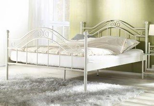 himmelbett wei 180 x 200cm himmel bett metallbett romantisch ehebett doppelbett ebay. Black Bedroom Furniture Sets. Home Design Ideas